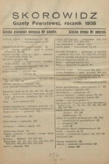 Gazeta Powiatowa Powiatu Świętochłowickiego = Kreisblattdes Kreises Świętochłowice. 1938, skorowidz rocznik 1938
