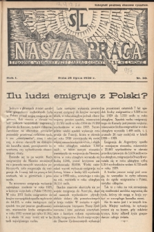 Nasza Praca : tygodnik wydawany przez Zarząd Główny TSL we Lwowie. 1936, nr30