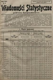 Wiadomości Statystyczne Powiatu Świętochłowickiego : dodatek do Gazety Powiatowej. 1931, nr2