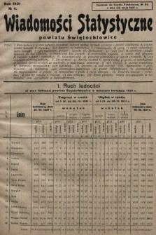 Wiadomości Statystyczne Powiatu Świętochłowickiego : dodatek do Gazety Powiatowej. 1931, nr4