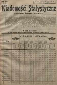 Wiadomości Statystyczne Powiatu Świętochłowickiego : dodatek do Gazety Powiatowej. 1931, nr6