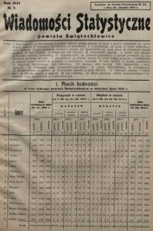 Wiadomości Statystyczne Powiatu Świętochłowickiego : dodatek do Gazety Powiatowej. 1931, nr7