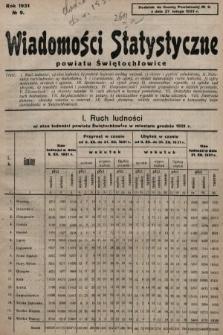 Wiadomości Statystyczne Powiatu Świętochłowickiego : dodatek do Gazety Powiatowej. 1931, nr9