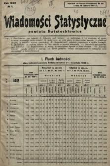 Wiadomości Statystyczne Powiatu Świętochłowickiego : dodatek do Gazety Powiatowej. 1932, nr1
