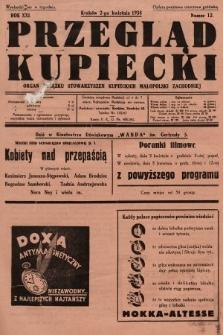 Przegląd Kupiecki : organ Związku Stowarzyszeń Kupieckich Małopolski Zachodniej. 1938, nr12