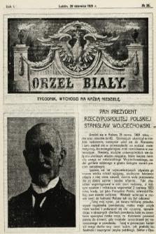 Orzeł Biały : tygodnik, wychodzi na każdą niedzielę. 1925, nr26