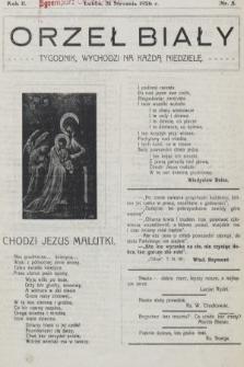 Orzeł Biały : tygodnik, wychodzi na każdą niedzielę. 1926, nr5
