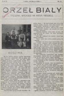 Orzeł Biały : tygodnik, wychodzi na każdą niedzielę. 1926, nr11