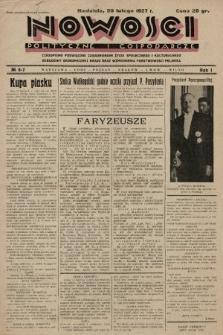 Nowości Polityczne i Gospodarcze : czasopismo poświęcone zagadnieniom życia społecznego i kulturalnego, odbudowy ekonomicznej kraju oraz wzmocnienia państwowości polskiej. 1927, nr6-7