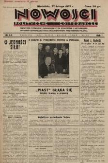 Nowości Polityczne i Gospodarcze : czasopismo poświęcone zagadnieniom życia społecznego i kulturalnego, odbudowy ekonomicznej kraju oraz wzmocnienia państwowości polskiej. 1927, nr8-9