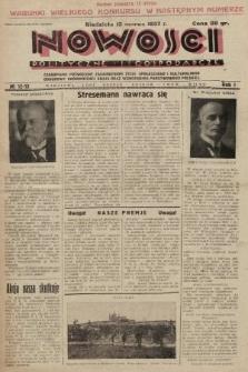 Nowości Polityczne i Gospodarcze : czasopismo poświęcone zagadnieniom życia społecznego i kulturalnego, odbudowy ekonomicznej kraju oraz wzmocnienia państwowości polskiej. 1927, nr12-13