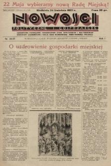 Nowości Polityczne i Gospodarcze : czasopismo poświęcone zagadnieniom życia społecznego i kulturalnego, odbudowy ekonomicznej kraju oraz wzmocnienia państwowości polskiej. 1927, nr24-25