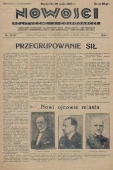 Nowości Polityczne i Gospodarcze : czasopismo poświęcone zagadnieniom życia społecznego i kulturalnego, odbudowy ekonomicznej kraju oraz wzmocnienia państwowości polskiej. 1927, nr34