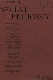 Świat Płciowy : miesięcznik popularny. 1905, nr1