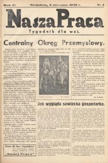 Nasza Praca : tygodnik dla wsi. 1938, nr 2