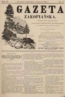 Gazeta Zakopiańska : pierwszy polski organ dla spraw turystycznych, klimatycznych i komunikacyjnych z urzędową listą imienną gości. 1893, nr2