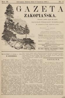 Gazeta Zakopiańska : pierwszy polski organ dla spraw turystycznych, klimatycznych i komunikacyjnych z urzędową listą imienną gości. 1893, nr3