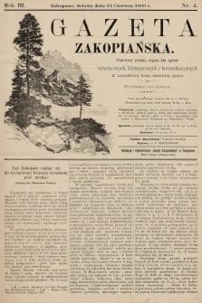 Gazeta Zakopiańska : pierwszy polski organ dla spraw turystycznych, klimatycznych i komunikacyjnych z urzędową listą imienną gości. 1893, nr4
