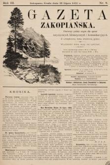 Gazeta Zakopiańska : pierwszy polski organ dla spraw turystycznych, klimatycznych i komunikacyjnych z urzędową listą imienną gości. 1893, nr9