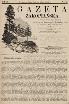 Gazeta Zakopiańska : pierwszy polski organ dla spraw turystycznych, klimatycznych i komunikacyjnych z urzędową listą imienną gości. 1893, nr11