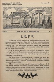 Lot : dwutygodnik młodzieży. 1929, nr7
