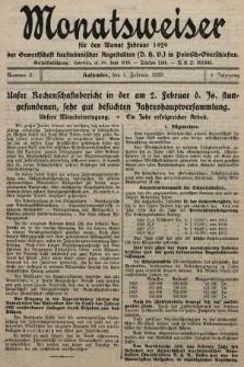 Der Monatsweiser : für den Monat... : der Gewerkschaft kaufmännischer Angestellten (D.H.V.) in Polnisch-Oberschlesien. 1929, nr2