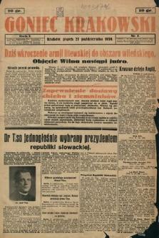 Goniec Krakowski. 1939, nr1