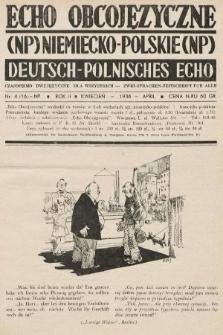 Echo Obcojęzyczne : czasopismo dwujęzyczne dla wszystkich = Deutsch-Polnisches Echo : zwei Sprachen Zeitschrift für alle. 1936, nr4