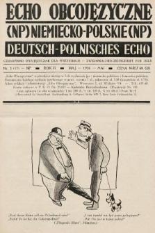 Echo Obcojęzyczne : czasopismo dwujęzyczne dla wszystkich = Deutsch-Polnisches Echo : zwei Sprachen Zeitschrift für alle. 1936, nr5 NP