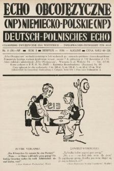 Echo Obcojęzyczne : czasopismo dwujęzyczne dla wszystkich = Deutsch-Polnisches Echo : zwei Sprachen Zeitschrift für alle. 1936, nr8