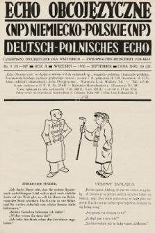Echo Obcojęzyczne : czasopismo dwujęzyczne dla wszystkich = Deutsch-Polnisches Echo : zwei Sprachen Zeitschrift für alle. 1936, nr9