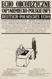Echo Obcojęzyczne : czasopismo dwujęzyczne dla wszystkich = Deutsch-Polnisches Echo : zwei Sprachen Zeitschrift für alle. 1936, nr10