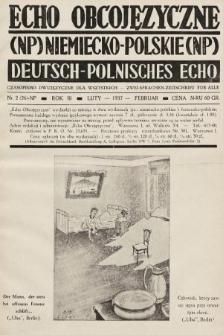 Echo Obcojęzyczne : czasopismo dwujęzyczne dla wszystkich = Deutsch-Polnisches Echo : zwei Sprachen Zeitschrift für alle. 1937, nr2