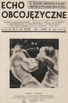 Echo Obcojęzyczne : czasopismo rozrywkowo-językowe = Deutsch-Polnisches Echo. 1938, nr1 C