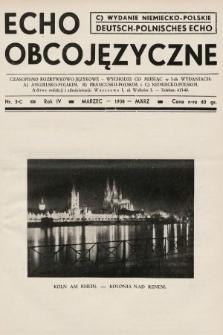 Echo Obcojęzyczne : czasopismo rozrywkowo-językowe = Deutsch-Polnisches Echo. 1938, nr3 C