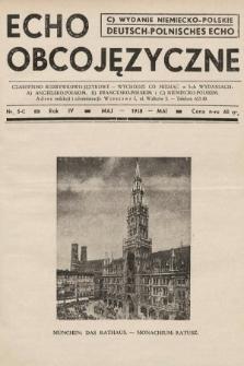 Echo Obcojęzyczne : czasopismo rozrywkowo-językowe = Deutsch-Polnisches Echo. 1938, nr5 C