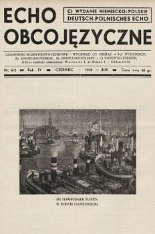Echo Obcojęzyczne : czasopismo rozrywkowo-językowe = Deutsch-Polnisches Echo. 1938, nr6 C