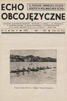 Echo Obcojęzyczne : czasopismo rozrywkowo-językowe = Deutsch-Polnisches Echo. 1938, nr7 C