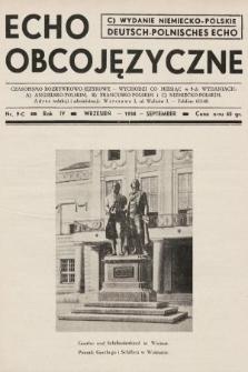 Echo Obcojęzyczne : czasopismo rozrywkowo-językowe = Deutsch-Polnisches Echo. 1938, nr9 C