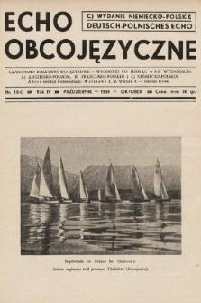 Echo Obcojęzyczne : czasopismo rozrywkowo-językowe = Deutsch-Polnisches Echo. 1938, nr10 C
