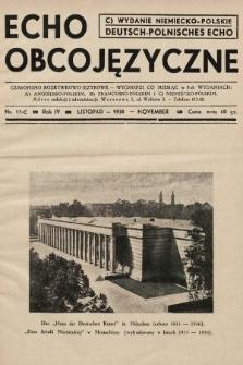 Echo Obcojęzyczne : czasopismo rozrywkowo-językowe = Deutsch-Polnisches Echo. 1938, nr11 C
