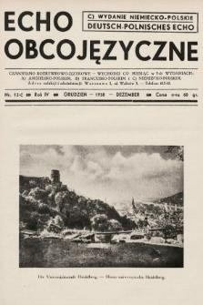 Echo Obcojęzyczne : czasopismo rozrywkowo-językowe = Deutsch-Polnisches Echo. 1938, nr12 C