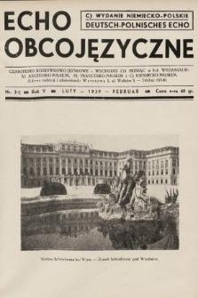Echo Obcojęzyczne : czasopismo rozrywkowo-językowe = Deutsch-Polnisches Echo. 1939, nr2 C