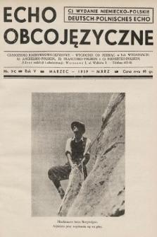 Echo Obcojęzyczne : czasopismo rozrywkowo-językowe = Deutsch-Polnisches Echo. 1939, nr3 C