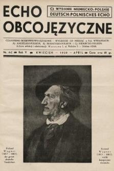 Echo Obcojęzyczne : czasopismo rozrywkowo-językowe = Deutsch-Polnisches Echo. 1939, nr4 C