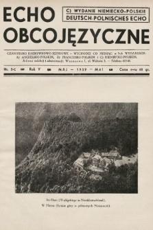 Echo Obcojęzyczne : czasopismo rozrywkowo-językowe = Deutsch-Polnisches Echo. 1939, nr5 C
