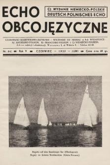 Echo Obcojęzyczne : czasopismo rozrywkowo-językowe = Deutsch-Polnisches Echo. 1939, nr6 C