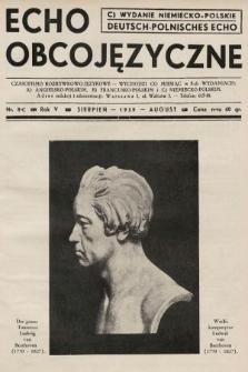 Echo Obcojęzyczne : czasopismo rozrywkowo-językowe = Deutsch-Polnisches Echo. 1939, nr8 C