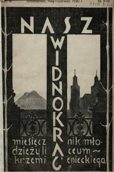 Nasz Widnokrąg : miesięcznik Młodzieży Liceum Krzemienieckiego. 1930, nr9-10