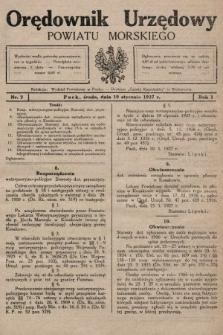 Orędownik Urzędowy Powiatu Morskiego. 1927, nr2
